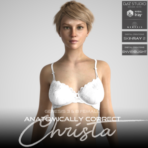 Anatomically Correct: Christa for Genesis 3 and Genesis 8 Female | Software | Design