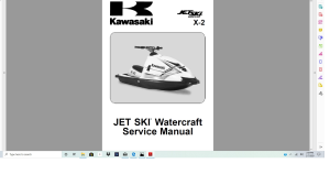 kawasaki x2 800 jet ski service manual