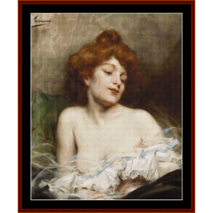 Reverie - A.H. Tanoux cross stitch pattern by Cross Stitch Collectibles | Crafting | Cross-Stitch | Other