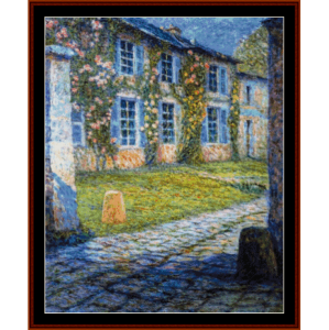 house at versaille - h.l. sidaner tanoux cross stitch pattern by cross stitch collectibles
