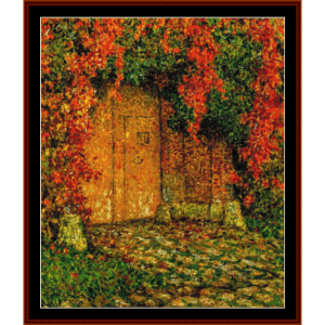 the portal - h.l. sidaner tanoux cross stitch pattern by cross stitch collectibles