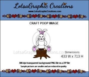 easter bunny 2 poop clipart