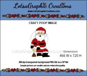 santa poop clipart