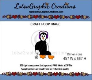 penguin poop clipart