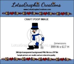 snowman poop clipart