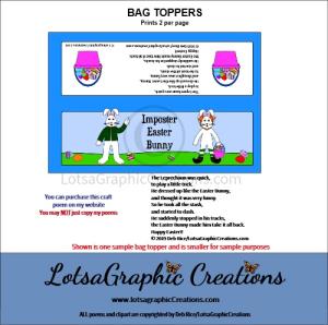 imposter easter bunny bag topper