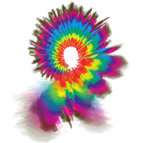 First Additional product image for - tie dye artwork