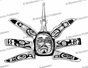 kwakiutl thunderbird with woman on top representing serpent, gottfried wilhem locher, 1932