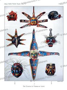 Kwakiutl Masks, Rudolf Cronau, 1905 | Photos and Images | Travel