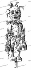 haida woodcarving representing the olala, a mountain demon who eats children, franz boas, 1897