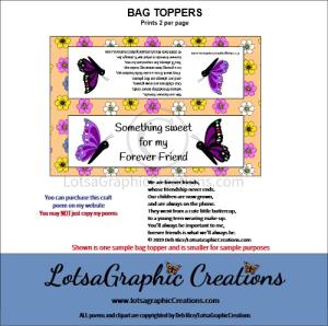 forever friends bag topper