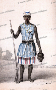 seh-dong-hong-beh, leader of the dahomey amazon army, frederick e. forbes, 1850
