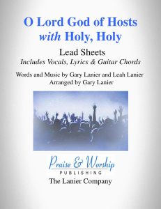 o lord god of hosts with holy, holy by gary lanier - lead sheet (includes melody, lyrics and guitar chords)