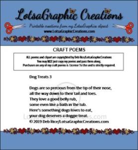 dog treats 3 poem