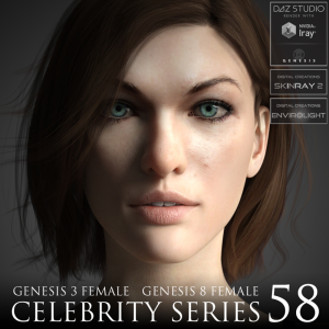 Celebrity Series 58 for Genesis 3 and Genesis 8 Female | Software | Design