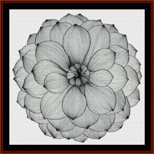 mandala 41 cross stitch pattern by cross stitch collectibles