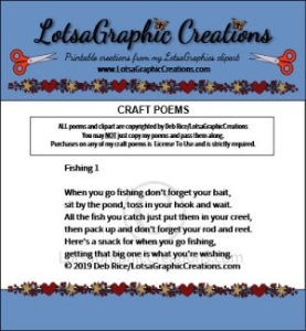 Fishing 1 Poem | Other Files | Arts and Crafts