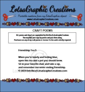 Friendship Tea 9 Poem | Other Files | Arts and Crafts