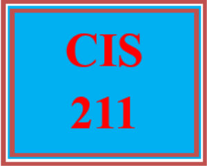 CIS 211 All Discussions | eBooks | Education