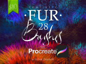 realistic fur brushes for procreate.
