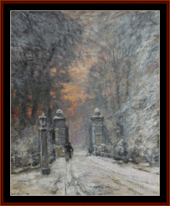Winter - Louis F. Apol  cross stitch pattern by Cross Stitch Collectibles | Crafting | Cross-Stitch | Other