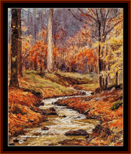 Autumn Stream - T.H. Steele cross stitch pattern by Cross Stitch Collectibles | Crafting | Cross-Stitch | Other