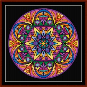mandala 44 by cross stitch pattern by cross stitch collectibles