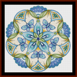 mandala 45 by cross stitch pattern by cross stitch collectibles