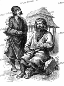 ainu man and wife, forwerk, 1893