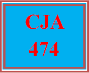 CJA 474 All Discussions | eBooks | Education