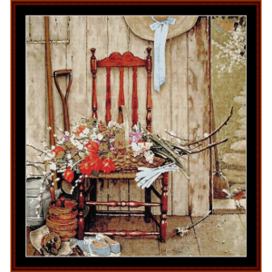 spring flowers - americana cross stitch pattern by cross stitch collectibles
