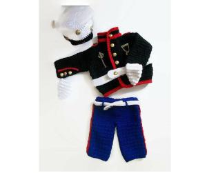 baby crochet marine costume