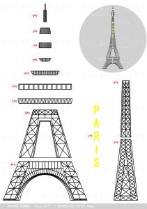 3d eiffel tower (3d printing pen )