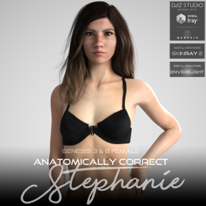 anatomically correct: stephanie for genesis 3 and genesis 8 female
