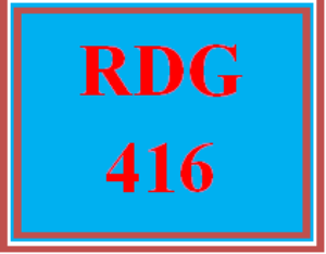 RDG 416 Week 3 Comprehension Lesson Plan | eBooks | Education