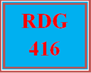 RDG 416 All Discussions | eBooks | Education
