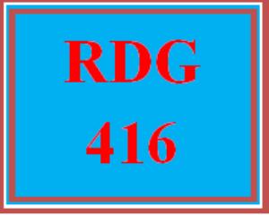 RDG 416 Wk 5 Discussion - Intervention Strategies   eBooks   Education