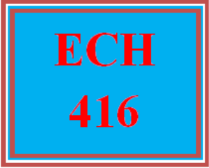 ECH 416 Week 4 Math Observations and Reflection Paper | eBooks | Education