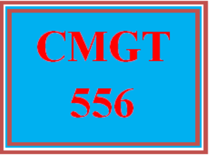 cmgt 556 entire course