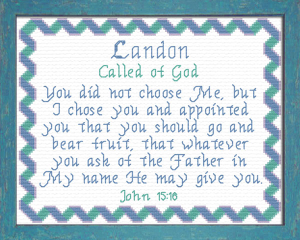 Name Blessings - Landon 2   Crafting   Cross-Stitch   Other