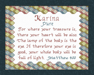 Name Blessings - Karina | Crafting | Cross-Stitch | Other