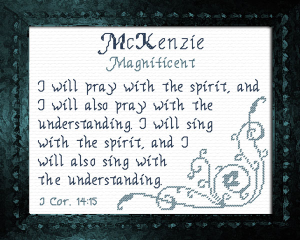 Name Blessings - McKenzie | Crafting | Cross-Stitch | Other
