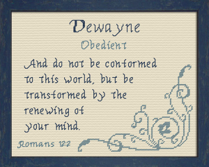 Name Blessings - Dewayne | Crafting | Cross-Stitch | Other