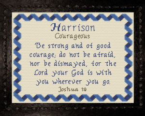 Name Blessings - Harrison 2 | Crafting | Cross-Stitch | Other