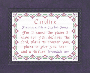 Name Blessings - Caroline 2 | Crafting | Cross-Stitch | Other