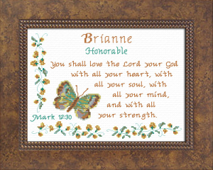 Name Blessings - Brianne   Crafting   Cross-Stitch   Other