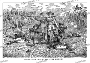 custer's last fight on the little big horn, g.a. custer, 1886