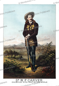 william frank carver, champion rifle shot of the world, g.a. custer, 1886