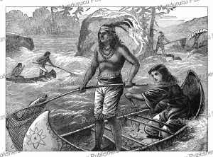 indian mode of fishing, general g.a. custer, 1886