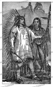 medicine arrows (1795-1876), a cheyenne chief and his squaw, g.a. custer, 1886